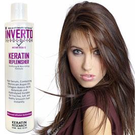 Inverto Keratin Hair Replenisher 300ml. glättet, beseitigt kräuseln, Repariert das Haar