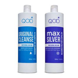 Brazilianische Haarglättung Behandlung QOD Max Silver formaldehydfrei 2er Kit