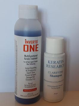 INVERTO ONE - Multifunktionale Keratin-Haarbehandlung Formaldehydfrei 120ml, speziell entwickelt für alle Haare, Natur Farbe, gefärbte Haare, blonde Haare