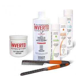 INVERTO TREAT WASH N' GO KERATIN HAIR   TREATMENT (FORMALDEHYDE FREE) - Jumbo Kit
