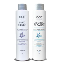 QOD max SILVER Hair Keratin Treatment 4er KIT Blow Dry + GRATIS: QOD Argan Öl 60 ml
