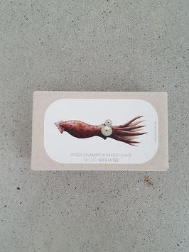 Gefüllte Kalmartuben  in Ragoutsauce