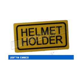 Pegatina soporte de casco