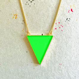 New Triangle Kette Grün Neon