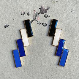 "Doppeldoppelrectangular Ohrstecker ""Individual Item No6"""