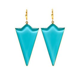 Semicircle Triangle Ohrhänger Turquoise