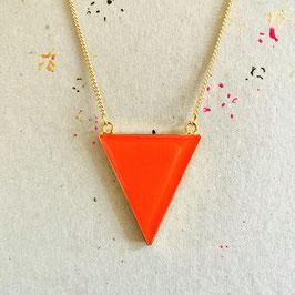 New Triangle Kette Coral Neon
