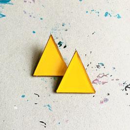 New Triangle Ohrstecker Indischgelb