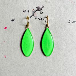 Drop Ohrhänger Green Neon
