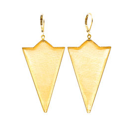 Semicircle Triangle Ohrhänger Gold Metallic