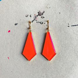 Krawatten Ohrhänger Coral Neon