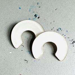 CC Ohrstecker Titanium White