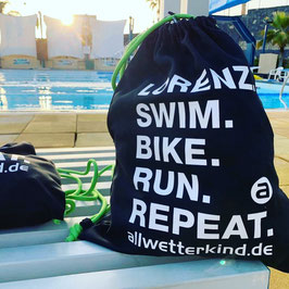 Personalisierter Beutel SWIM BIKE RUN REPEAT