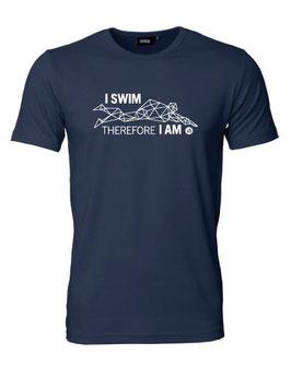 Herren T-Shirt I SWIM THEREFORE I AM