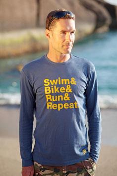 DER KLASSIKER! Herren T-Shirt SWIM BIKE RUN & REPEAT