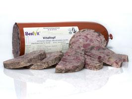 Vitaltopf, BestVit Naturfutter Hund, ohne Chemie kaltabgefüllt in Wurstpelle, je 6 x 200, 300, 400 oder 800g