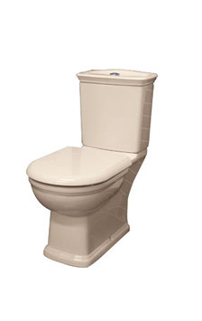 Washington Colonial Heritage Vintage Style Closed Coupled Ivory Toilet Suite