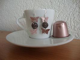 Nespresso-Kapseln Silber Ohrringe Rosa oder Blau