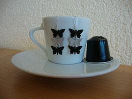 Nespresso-Kapseln Silber Ohrringe