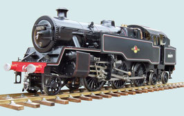 5 Zoll Echtdampflokomotive Standard Class 4 Kohlegefeuert schwarz/grün