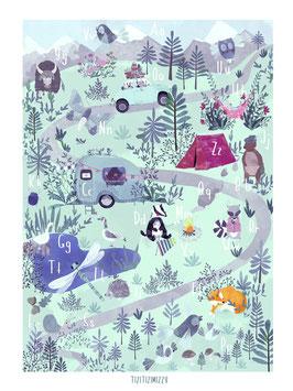 ABC Poster Wald tizitizimizzy