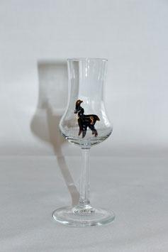 Schnapsglas mit Gams