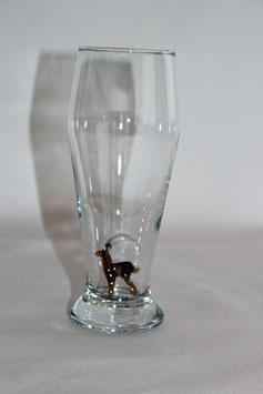 Bierglas mit Steinbock