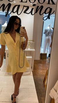 Robe blazer jaune