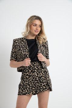 Jupe short léopard