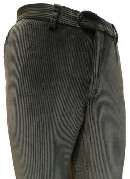 Pantalone velluto elast. V/P grigio