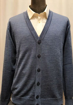 Cardigan bottoni merino avion