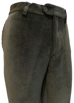Pantalone velluto elast. V/P verde