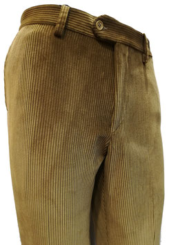 Pantalone velluto elast. V/P beige