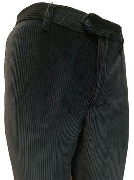 Pantalone velluto elast. V/P blu