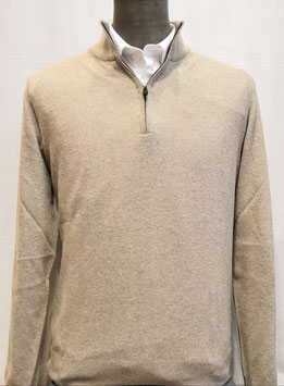 Polo zip MV cash 1F T.U. beige