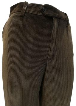 Pantalone velluto elast. V/P marrone
