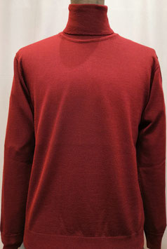Collo alto merino bordeaux