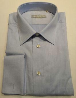 Camicia con gemelli celeste