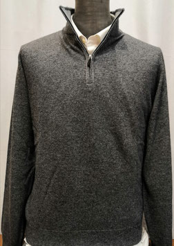 Polo zip MV cash 1F T.U. grigio