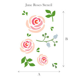 Stencil - June Roses