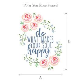 Stencil -  Polar star rose