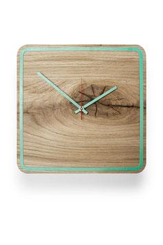 Orologio da parete in legno di rovere . Five Minutes Alone