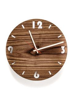 Orologio da parete in legno di noce . rotondo
