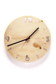 Orologio da parete in legno di cirmolo . rotondo