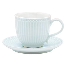 GreenGate, Tasse mit Unterteller, Alice, pale blue