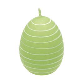 GreenGate Kerze Osterei Stripe pale green