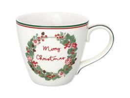 GreenGate Tasse Merry christmas white