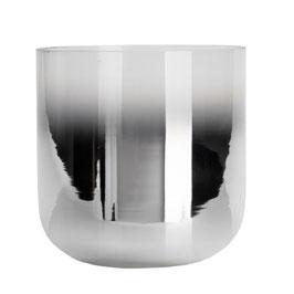 Windlicht Glas mit silbernem Farbverlauf