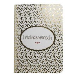 Mea Living Notizbuch Lieblingsmensch (gold)