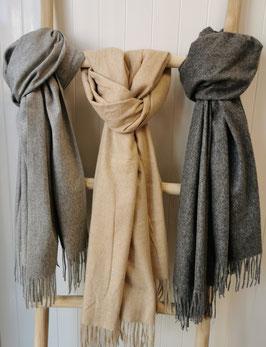 Schal Wolle mit Fransen